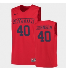 Men Dayton Flyers Chase Johnson College Basketball Red Jersey