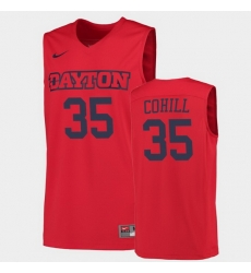 Men Dayton Flyers Dwayne Cohill College Basketball Red Jersey