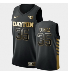 Men Dayton Flyers Dwayne Cohill Golden Edition Black Limited Jersey