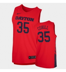 Men Dayton Flyers Dwayne Cohill Replica Red College Basketball 2020 21 Jersey