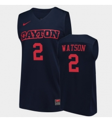 Men Dayton Flyers Ibi Watson College Basketball Navy Jersey 0A