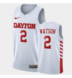 Men Dayton Flyers Ibi Watson College Basketball White Jersey