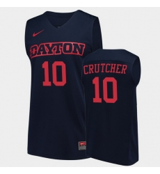 Men Dayton Flyers Jalen Crutcher College Basketball Navy Jersey 0A