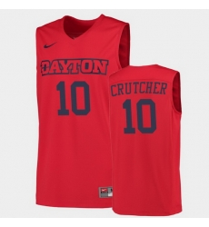Men Dayton Flyers Jalen Crutcher College Basketball Red Jersey 0A