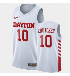 Men Dayton Flyers Jalen Crutcher College Basketball White Jersey