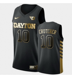 Men Dayton Flyers Jalen Crutcher Golden Edition Black Limited Jersey