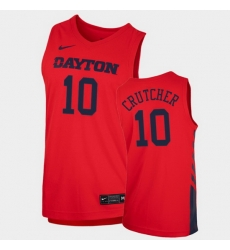 Men Dayton Flyers Jalen Crutcher Replica Red College Basketball 2020 21 Jersey
