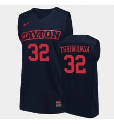 Men Dayton Flyers Jordy Tshimanga College Basketball Navy Jersey