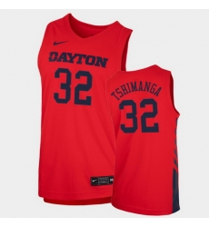 Men Dayton Flyers Jordy Tshimanga Replica Red College Basketball 2020 21 Jersey