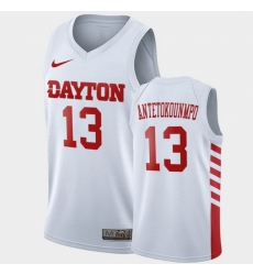 Men Dayton Flyers Kostas Antetokounmpo College Basketball White Jersey