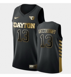Men Dayton Flyers Kostas Antetokounmpo Golden Edition Black Limited Jersey