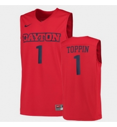 Men Dayton Flyers Obi Toppin College Basketball Red Jersey
