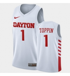 Men Dayton Flyers Obi Toppin College Basketball White Jersey