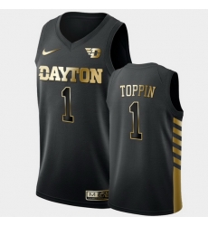 Men Dayton Flyers Obi Toppin Golden Edition Black Limited Jersey