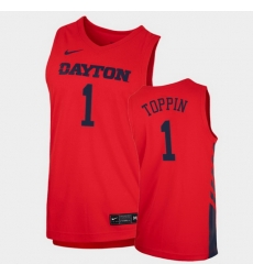 Men Dayton Flyers Obi Toppin Replica Red College Basketball 2020 21 Jersey