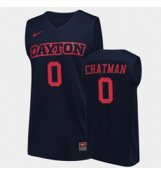 Men Dayton Flyers Rodney Chatman College Basketball Navy Jersey 0A