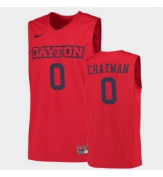 Men Dayton Flyers Rodney Chatman College Basketball Red Jersey 0A