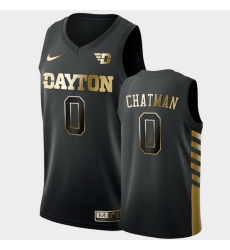 Men Dayton Flyers Rodney Chatman Golden Edition Black Limited Jersey
