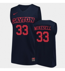 Men Dayton Flyers Ryan Mikesell College Basketball Navy Jersey 0A