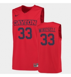 Men Dayton Flyers Ryan Mikesell College Basketball Red Jersey 0A
