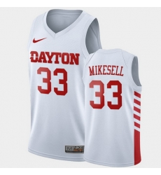Men Dayton Flyers Ryan Mikesell College Basketball White Jersey