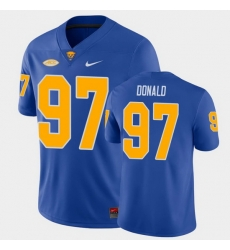 Men Pitt Panthers Aaron Donald College Football Royal Game Jersey