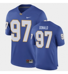 Men Pitt Panthers Aaron Donald Game Royal Football Jersey