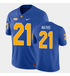 Men Pitt Panthers Damarri Mathis College Football Royal Game Jersey