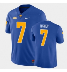 Men Pitt Panthers Dj Turner College Football Royal Game Jersey