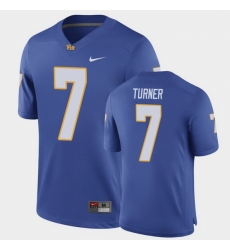 Men Pitt Panthers Dj Turner Game Royal Football Jersey