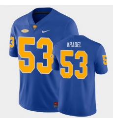 Men Pitt Panthers Jake Kradel College Football Royal Game Jersey