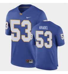 Men Pitt Panthers Jake Kradel Game Royal Football Jersey