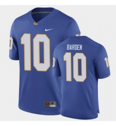 Men Pitt Panthers Jaylon Barden Game Royal Football Jersey