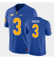 Men Pitt Panthers Jordan Addison College Football Royal Game Jersey