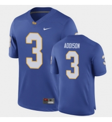Men Pitt Panthers Jordan Addison Game Royal Football Jersey