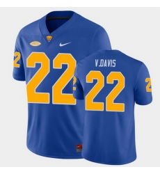 Men Pitt Panthers Vincent Davis College Football Royal Game Jersey