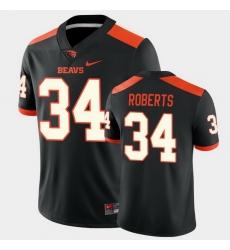 Men Oregon State Beavers Avery Roberts College Football Black Game Jersey