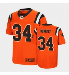 Men Oregon State Beavers Avery Roberts Replica Orange College Football Jersey