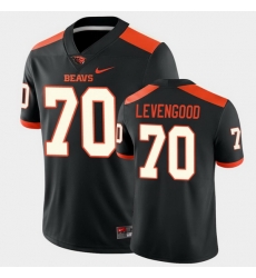 Men Oregon State Beavers Jake Levengood College Football Black Game Jersey