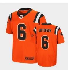 Men Oregon State Beavers Jermar Jefferson Replica Orange College Football Jersey