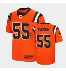 Men Oregon State Beavers Keli'I Montibon Replica Orange College Football Jersey