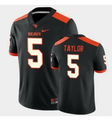 Men Oregon State Beavers Kolby Taylor College Football Black Game Jersey