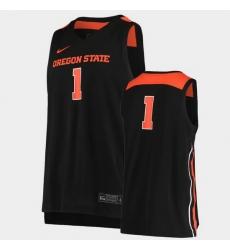 Men Oregon State Beavers Replica Black Basketball Jersey
