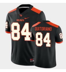 Men Oregon State Beavers Teagan Quitoriano College Football Black Game Jersey