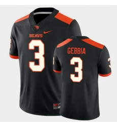 Men Oregon State Beavers Tristan Gebbia College Football Black Game Jersey