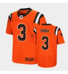 Men Oregon State Beavers Tristan Gebbia Replica Orange College Football Jersey