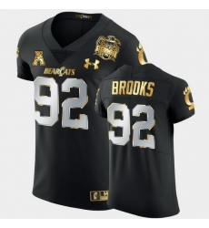 Men Cincinnati Bearcats Curtis Brooks 2021 Peach Bowl Black Golden Edition Jersey