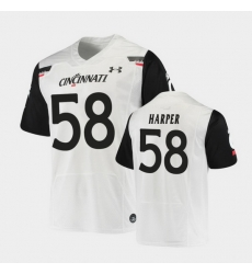 Men Cincinnati Bearcats Darius Harper Replica White Football Jersey