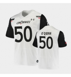 Men Cincinnati Bearcats Dylan O'Quinn Replica White Football Jersey