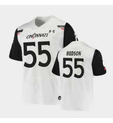 Men Cincinnati Bearcats James Hudson Replica White Football Jersey